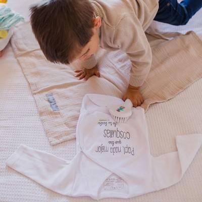 Body para bebé con mensaje original