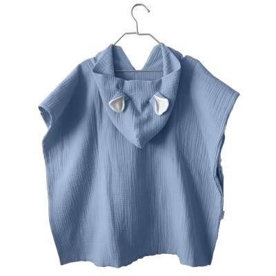 poncho-bebe-toalla-capucha-ponchos-niños-muselina-algodon-bambula-suave-mimuselina-azul