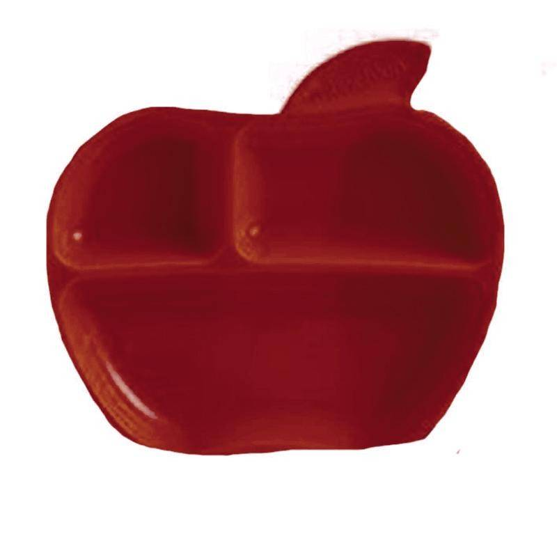 Plato manzana apple rojo